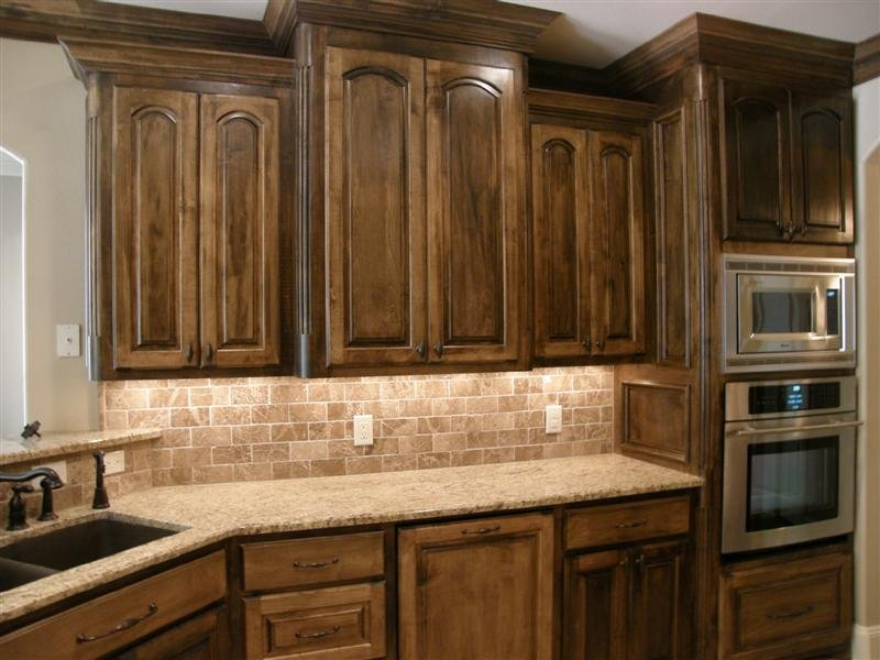 Kitchens With Stained Maple Cabinets