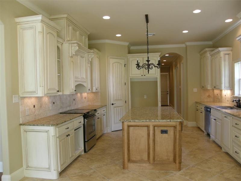 French Country Galley Kitchen liebrum construction and mike liebrum realty - nacogdoches, tx
